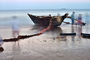Boat 1 by Amit Bhandare, Image Photograph, Digital Print on Paper, Gray color
