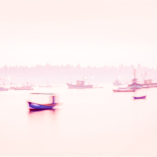 Jetty by Amit Bhandare, Image Photography, Digital Print on Paper, Beige color