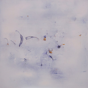 Untitled 1294 by Arvind Patel, Minimalism Painting, Acrylic on Canvas, Gray color