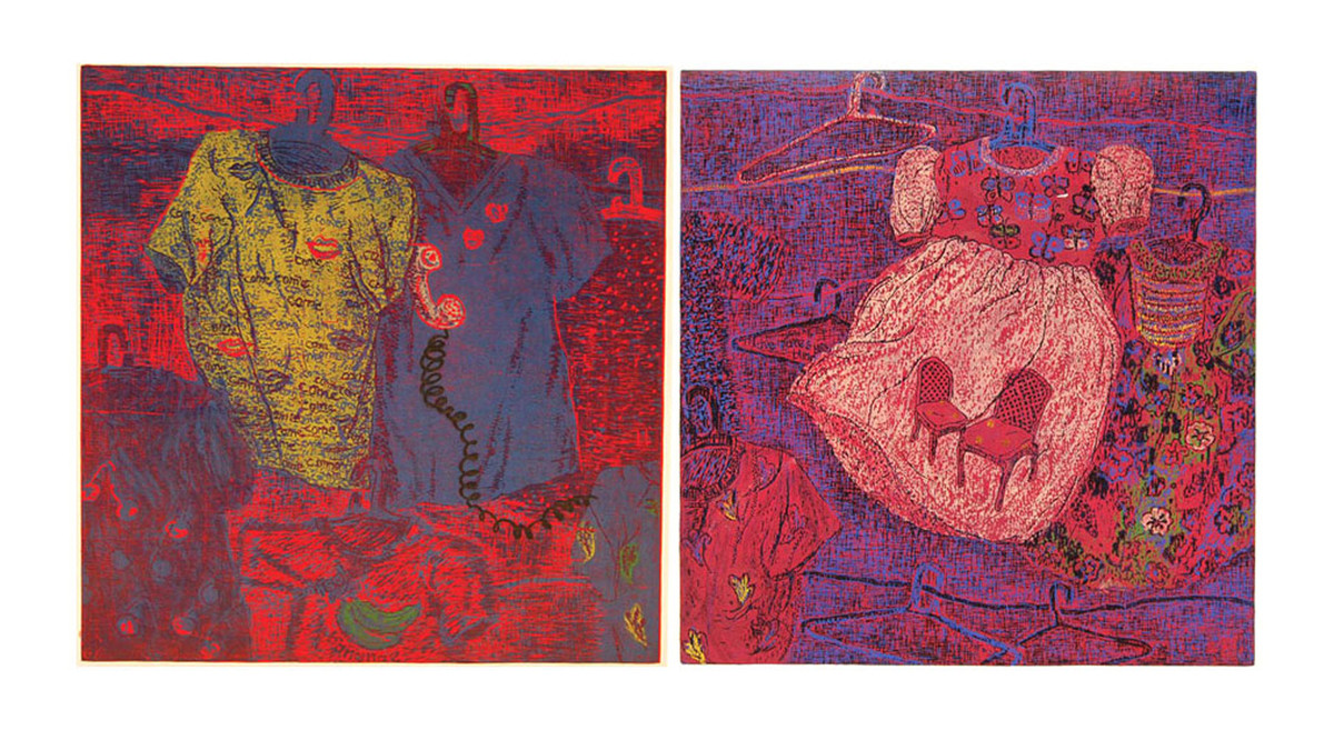 Not Every Desire Gets Fulfilled by Vibhuti Sharma, Geometrical Painting, Wood Cut on Paper, Red color