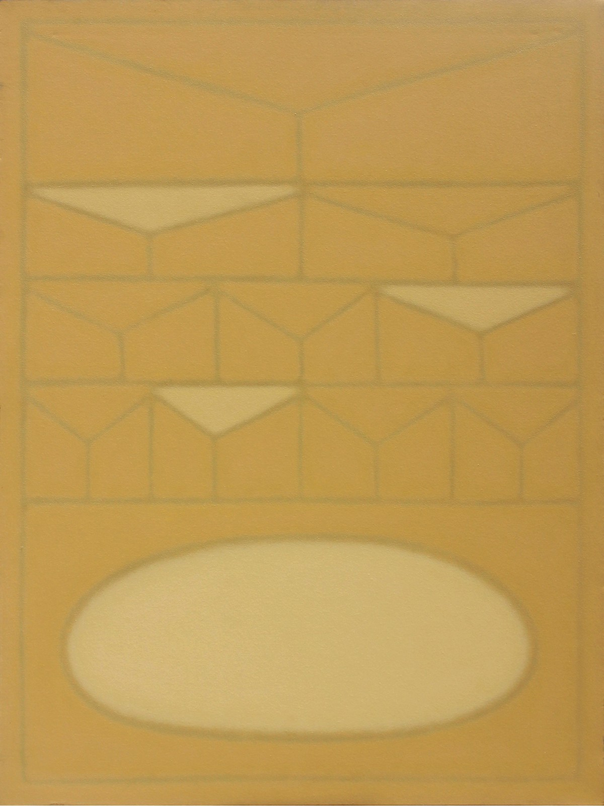 Untitled by Sandip More, Geometrical Painting, Acrylic on Canvas, Beige color