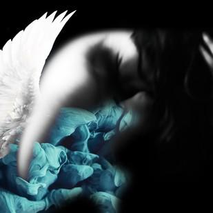 Resurrected Angel by Prapti Mittal, Image Digital Art, Digital Print on Canvas, Black color