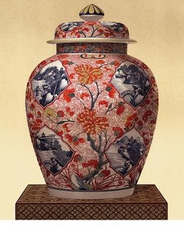Oriental Blue Vase III Digital Print by Unknown,Decorative