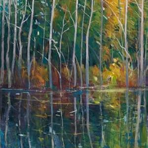 Pine Reflection II Digital Print by O'Toole, Tim,Decorative, Impressionism