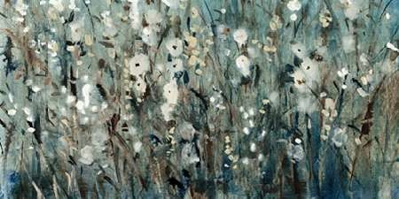 White Blooms With Navy I Digital Print by O'Toole, Tim,Impressionism