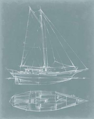 Yacht Sketches III Print By Harper, Ethan