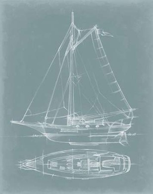 Yacht Sketches IV Print By Harper, Ethan