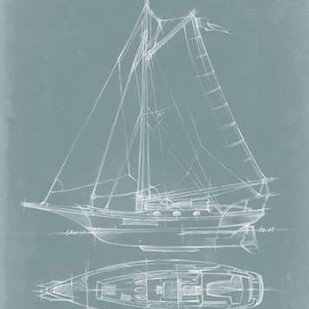 Yacht Sketches IV Digital Print by Harper, Ethan,Illustration