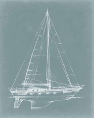 Yacht Sketches II Digital Print by Harper, Ethan,Illustration