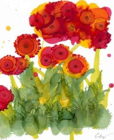 Poppy Whimsy IV Digital Print by Baynes, Cheryl,Impressionism