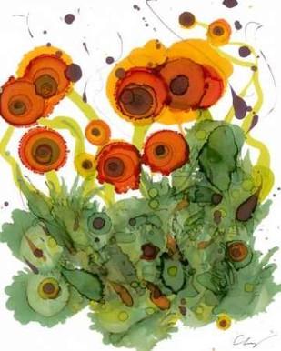 Poppy Whimsy VII Digital Print by Baynes, Cheryl,Impressionism