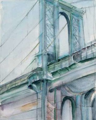 Watercolor Bridge Study I Digital Print by Harper, Ethan,Impressionism