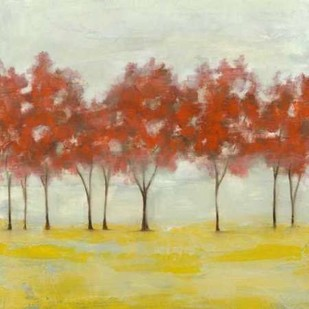Terra Cotta Trees I Digital Print by Goldberger, Jennifer,Impressionism