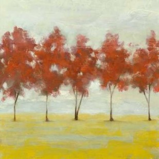 Terra Cotta Trees II Digital Print by Goldberger, Jennifer,Impressionism