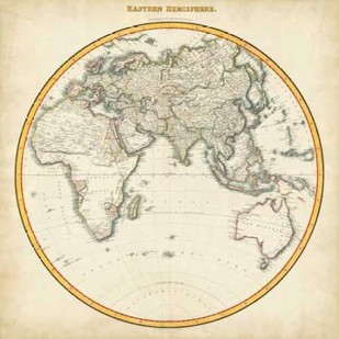 1812 Eastern Hemisphere Digital Print by Pinkerton,Decorative