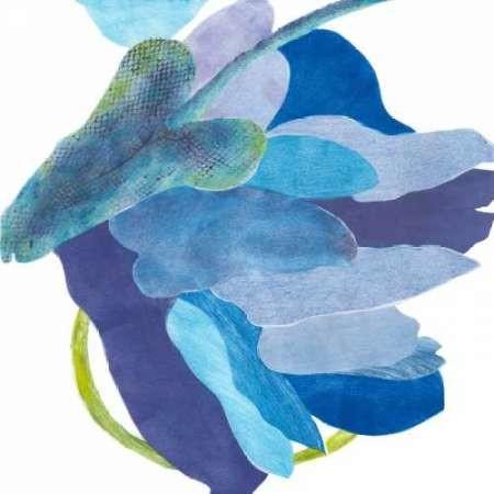 Sideways Indigo I Digital Print by Roth, Carolyn,Impressionism