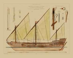Antique Ship Plan VI Digital Print by Vision Studio,Decorative