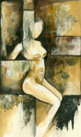 Contemporary Seated Nude I Digital Print by Goldberger, Jennifer,Impressionism