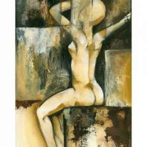 Contemporary Seated Nude II Digital Print by Goldberger, Jennifer,Cubism