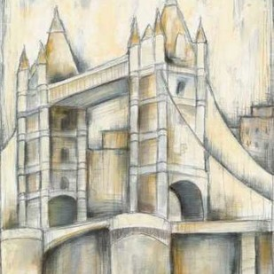 Urban Bridgescape II Digital Print by Goldberger, Jennifer,Decorative