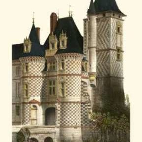 French Chateaux in Blue II Digital Print by Petit, Victor,Realism
