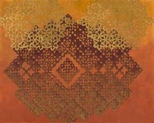 Golden Henna I Digital Print by Zarris, Chariklia,Decorative