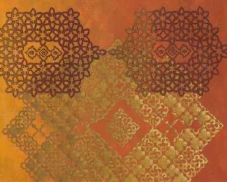 Golden Henna Ii By Artist Zarris Chariklia Decorative Print
