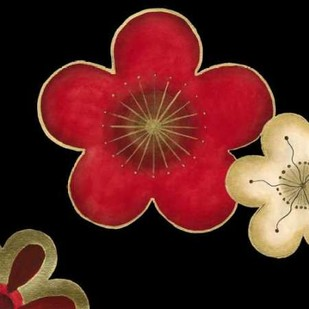 Pop Blossoms in Red II Digital Print by Vess, June Erica,Decorative