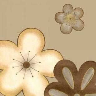 Pop Blossoms in Neutral I Digital Print by Vess, June Erica,Decorative