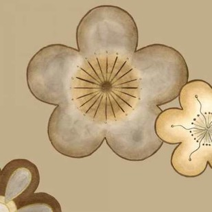 Pop Blossoms in Neutral II Digital Print by Vess, June Erica,Decorative