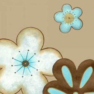 Pop Blossoms in Blue I Digital Print by Vess, June Erica,Decorative