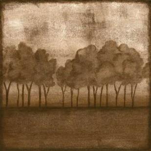 Trees at Dusk II Digital Print by Slocum, Nancy,Impressionism