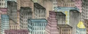 City by Night I Digital Print by Swinford, Charles,Decorative