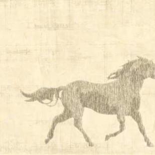Vintage Horse I Digital Print by Vision Studio,Impressionism