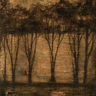 Bronzed Treeline II Digital Print by Goldberger, Jennifer,Impressionism