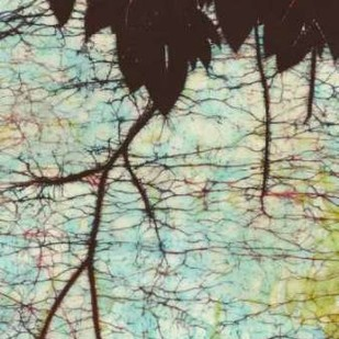 Batik Hanging Leaves II Digital Print by Davis, Andrea,Impressionism