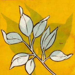 Gold Batik Botanical I Digital Print by Davis, Andrea,Decorative