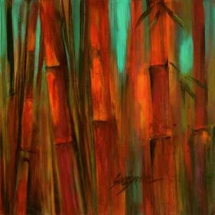 Sunset Bamboo II Digital Print by Wilkins, Suzanne,Impressionism