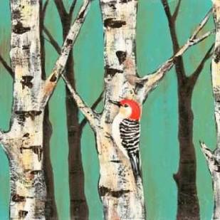 Birch Grove on Teal II Digital Print by Reynolds, Jade,Impressionism