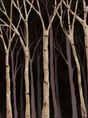 Midnight Birches I Digital Print by Reynolds, Jade,Impressionism