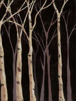 Midnight Birches II Digital Print by Reynolds, Jade,Impressionism