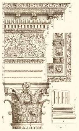 Corinthian Detail V Digital Print by Vision Studio,Art Deco