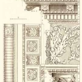 Corinthian Detail VI Digital Print by Vision Studio,Art Deco