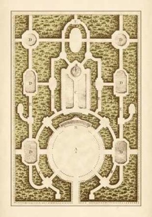 Garden Maze I Digital Print by Blondel,Decorative