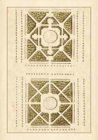 Garden Maze IV Digital Print by Blondel,Decorative