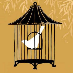 Birdcage Silhouette I Digital Print by Vess, June Erica,Decorative