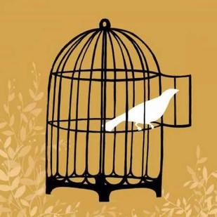 Birdcage Silhouette II Digital Print by Vess, June Erica,Decorative