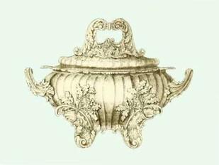 Celadon Porcelain II Digital Print by Vision Studio,Decorative