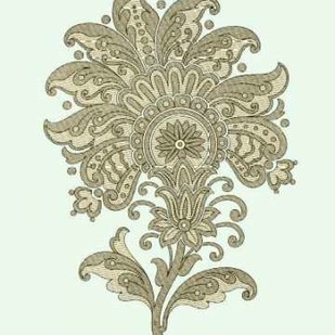 Celadon Floral Motif III Digital Print by Vision Studio,Decorative