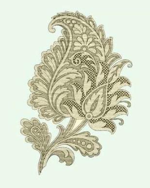 Celadon Floral Motif IV Digital Print by Vision Studio,Decorative